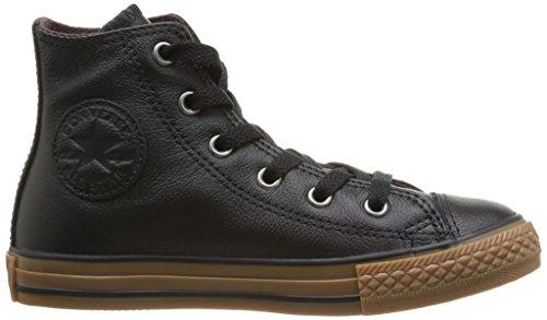 Schwarz Junior Hi Noir Chuck Unisex Leather Taylor Converse Kinder Sneaker 8 Wintage 384280 SwaCqZEWxv