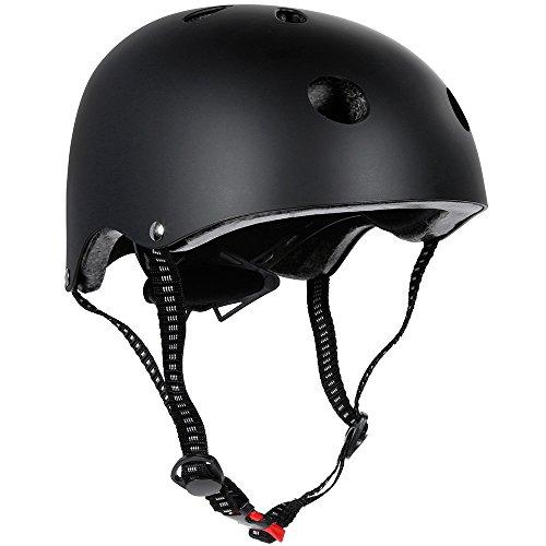 zacro Classic Commuter Bike/Skate/Multi Sport Helmet with 11 Vents in Common Size (54-62cm), Black