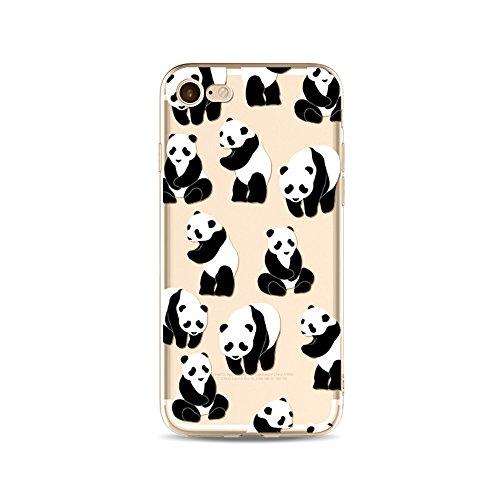 "CoqueiPhone 6S Plus Etui Housse,BoomTeck Coque Pour 5.5"" Apple iPhone 6S Pus/iPhone 6 Plus Silicone Souple Transparente Motif Clear Ultra Mince Anti Choc Anti-rayures Gel TPU Etui Protection Bumper C 02"