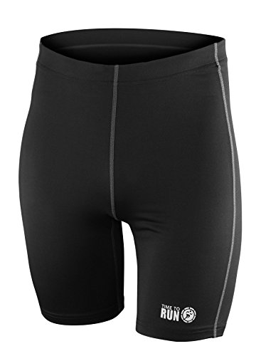 Time To Run Men's Pro Running Short With Rear Pocket-Lycra Based For Gym, Track, Workout, Jogging & Cycling-Lightweight Performance Exercise Shorts by