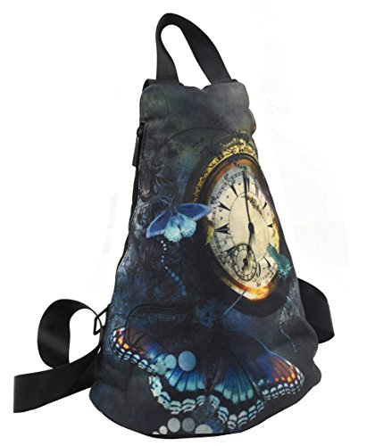 DCCN Damen Canvas Daypack Leinwand Rucksack Beutel Cityrucksack mit Schmetterling Muster
