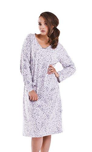 dn-nightwear - Chemise de nuit - Femme - grey melange rose