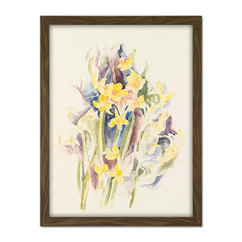 Demuth Small Daffodils Flower Drawing Painting Large Framed Art Print Poster Wall Decor 18x24 in Blume Zeichnung Malerei Wand Deko - Daffodil Fine Art
