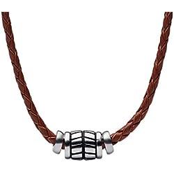 Fossil Cadena de Collar de Hombre con Acero Inoxidable