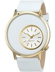 Esprit Damen-Armbanduhr XL Copa Gold Analog Quarz Leder ES105672003