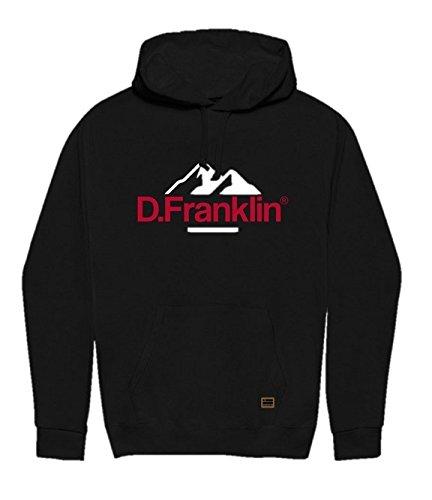 D. Franklin Unisex Kapuzen-Sweatshirt Hoodie Muntain Blanco, Weiß, M (Kapuze Franklin)