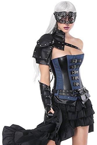 Corse de Halloween Steampunk para Mujeres Corset Gotico Medieval...