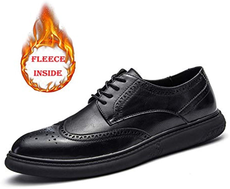Business Oxford da Uomo Casual Super Fine Fine Fine Soft Bottom Regular Warm Warm Brogue scarpe Scarpe da Cricket | Design professionale  08c87f