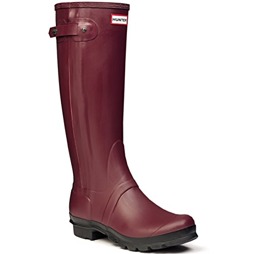 Damen Hunter Original Slim Two Toned Gummistiefel Schnee Regen Stiefel Waldgrün
