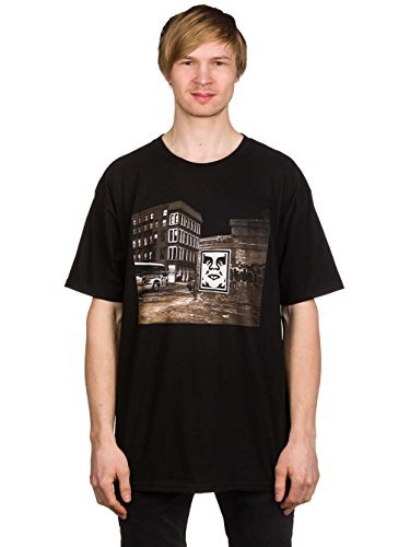 Herren T-Shirt Obey Obey Bus Photo Basic T-Shirt Black