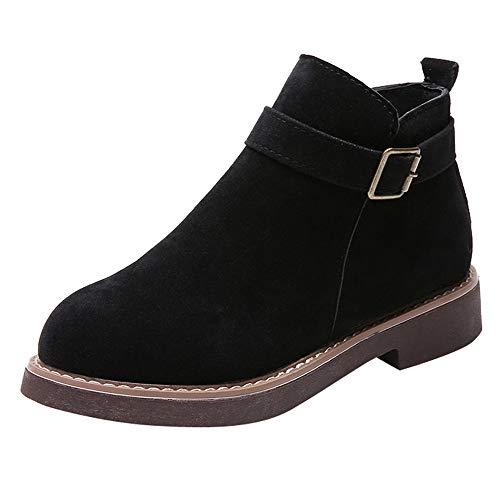 Bottes de Neige,Subfamily Femme Chaussons Hiver Chaussure Mode Bottes Chelsea Low Chic Cheville Compensées Boots Femme Chaussures 3cm Bottes en Daim