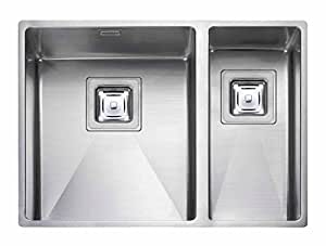 Rangemaster kube 1 5 vier de cuisine encastrable en acier for Evier non encastrable