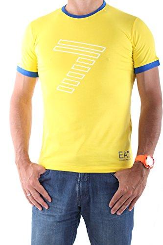 Emporio Armani, da uomo, T-shirt a maniche corte con 273813 5P254, colore: giallo