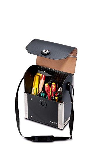 Parat 30.200-581 Top Line Werkzeugtasche mit Magnetverschluss, schwarz (Ohne Inhalt)