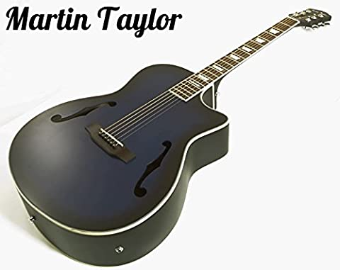 Martin Taylor Electric Electro semi Acoustic hollow body guitar (satin matte blueburst) Fender