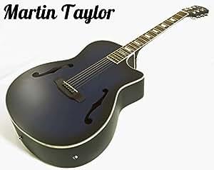 martin taylor electric electro semi acoustic hollow body guitar satin blue black burst fender. Black Bedroom Furniture Sets. Home Design Ideas