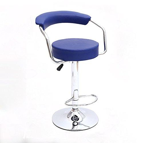 MENA Uk Runder Massage-Stuhl-justierbarer Schwenker-hydraulischer Gasheber-Schemel mit PU-Leder (Farbe : Blau, größe : 35.5cm) -