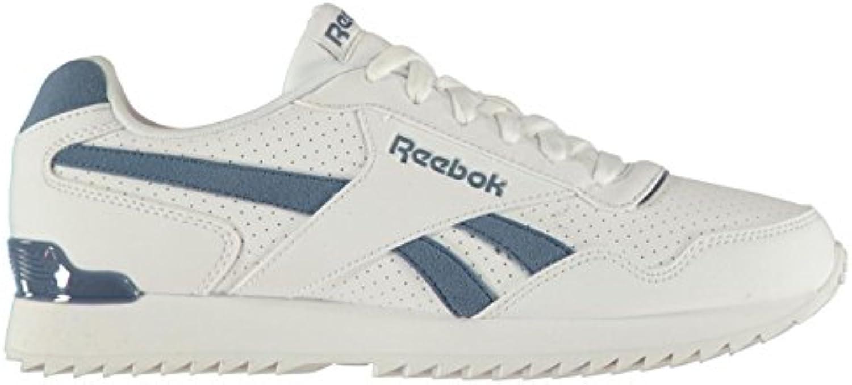 Original scarpe Reebok Reale Glide Incresparsi Clip Clip Clip Scarpe Sportive Bianco Uomo Blu Sport Scarpe Sportive - Bianco... | Delicato  a3896f