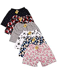First Kids Step Baby Hosiery Cotton Shorts - Pack of 6