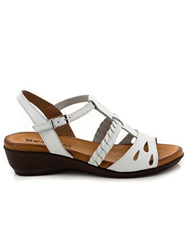 En cuir blanc Sandale Dliro 61,3010 Blanc