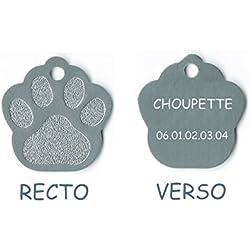 Medaille gravee Chien Chat modele Petite Patte de Chat calinette Argent