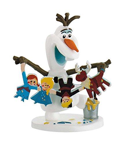Bullyland 12943 - Disney Olafs Frozen Adventure Spielfigur, Olaf mit Girlande