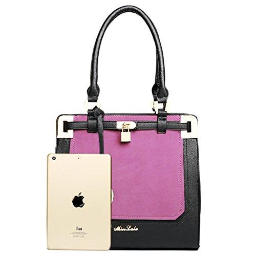 Tragetasche/Handtasche/Umhängetasche für Damen, Leder-Design rose