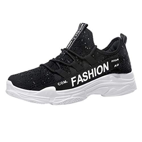 Laufschuhe für Unisex/Skxinn Herren Damen Sommerschuhe Fitnessschuhe Sportschuhe Outdoor Casual Sneaker Turnschuhe Mesh Atmungsaktive Strandschuhe Leicht Wanderhalbschuhe 36-44 EU(Schwarz,39 ()