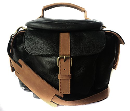 Genuine Leather Bag for Sony Alpha SLT-A58Y 20.1 MP DSLR Camera (#MN_BLACK)  available at amazon for Rs.2999