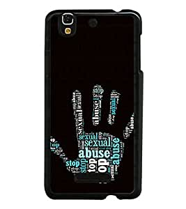 ifasho Designer Phone Back Case Cover YU Yureka :: YU Yureka AO5510 ( Blue Dot Brown Rose Colorful Pattern Design )