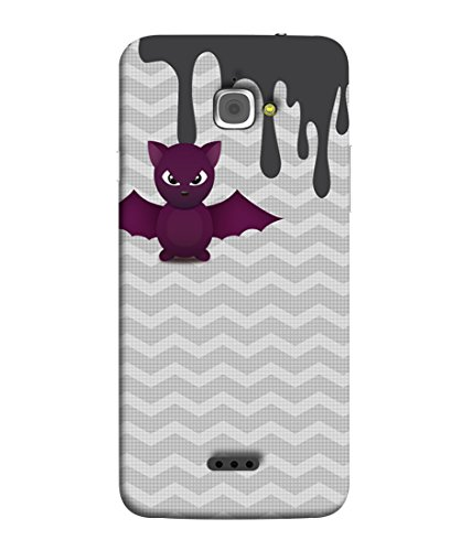 PrintVisa Chevron Retro Groovy Owl 3D Hard Polycarbonate Designer Back Case Cover for InFocus M350  available at amazon for Rs.367