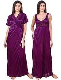 a42c100cc5 Amazon.in: Satin - Lingerie & Nightwear / Women: Clothing & Accessories