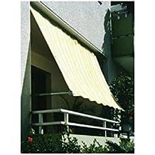Peddy shield M109435 - Toldo balcon sujección pared rayas azul y blanco 2 7 x 1 4 m