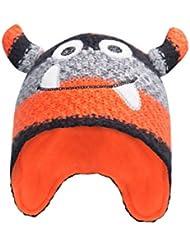 Mountain Warehouse Gorro a rayas Monster para niños Naranja Talla única