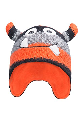 Mountain Warehouse Bonnet Hiver Garçon Fille Bébé Junior Rigolo Monstre Orange