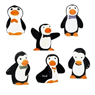 Anniversary House Penguin Plastic Cake Toppers. BX311