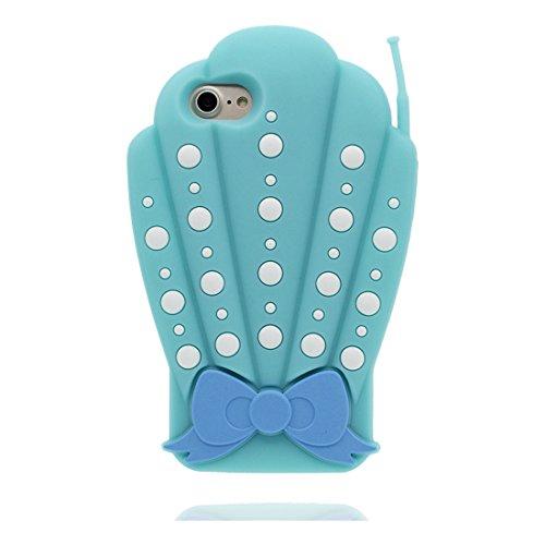 """Hülle iPhone 6 6s Cover Karikatur-Tierentwurf -3D Cigarette Holder Schädel TPU Form Gummi Gel Neues, iPhone 6 Handyhülle 4.7"""", iPhone 6S case 4.7"""" Schock-Poof und Ring Ständer blau"""