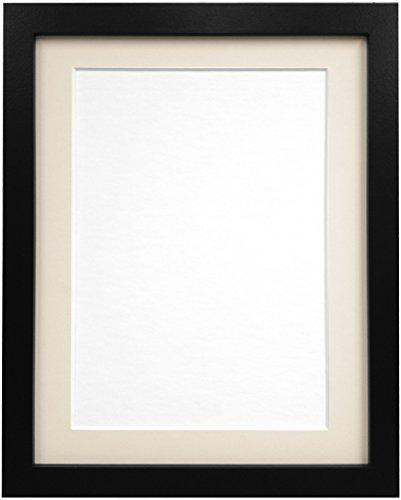 Frames By Post Schwarz Foto Bild Poster Rahmen mit elfenbeinfarbenem Passepartout, holz, 25mm Frame, 20