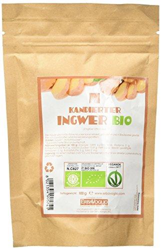 Erbavoglio Kandierter Bio-Ingwer, 1er Pack (1 x 100 g)