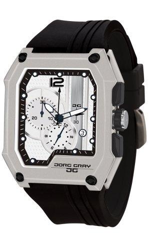Jorg Gray Reloj cronógrafo para Hombre de Cuarzo con Correa en Caucho JG7100-22