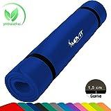 MOVIT XXL Pilates Gymnastikmatte, Yogamatte, phthalatfrei, SGS geprüft, 190 x 60 x 1,5cm, Blau Petrol