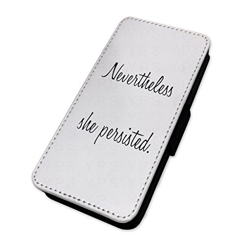 Tuttavia ha continuato–Pretty Girls quote–Flip cover in pelle copertura di carta Apple Iphone 8 Plus