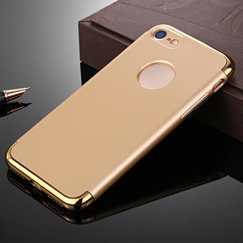 Ouneed® Hülle für iphone 7 4.7 Zoll , Luxury thin Electroplate Hard Back Case Cover für iPhone 7 4.7 Zoll (4.7 Zoll, Schwarz) Golden