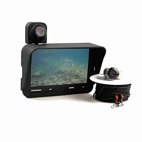WYYHAA Fischfinder-Kamera, tragbarer Fischfinder 4,3 Zoll HD Nachtsicht 1000TVL Objektiv Wasserdicht Wiederaufladbare Unterwasserkamera Monitor Meer/Fluss/Eisfischen (Lowrance Hds)
