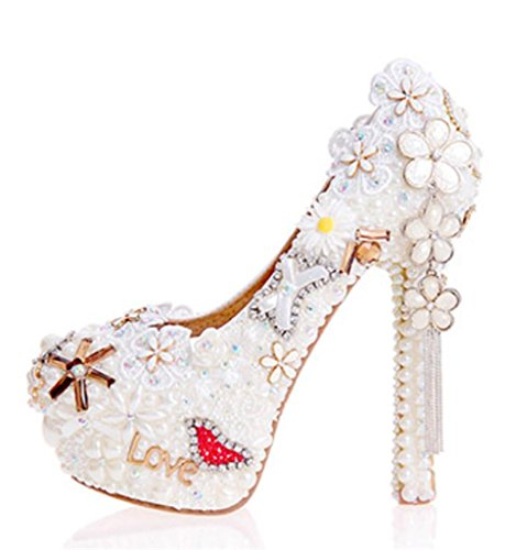 GZD-WomenS-Flowers-Heart-Shaped-Pearl-Closed-Round-Toe-Crystal-Court-Shoes-Bridesmaids-Rhinestone-Bridesmaids-Pumps-Stiletto-High-Heel-Bridal-Wedding-Shoes