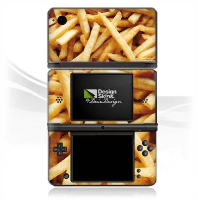 atibel mit Nintendo DSi XL Aufkleber Sticker Folie Pommes Chips Fritten ()