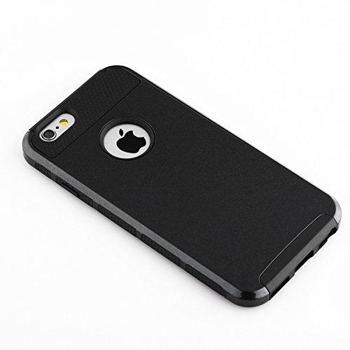 iPhone 6S Plus Hülle technext020 Schutzhülle für iPhone 6S Plus Slim Hybrid Dual Layer stoßfest Hartkunststoff Silikon Hard Cover für Apple iPhone 6S Plus Stoßfänger Abdeckung Rosegold Rosa schwarz