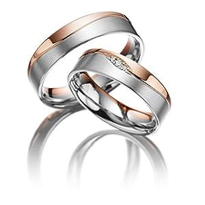 Fedi nuziali partner anelli di fidanzamento o dell' amicizia in titanio con zirconia/incisione Diamante