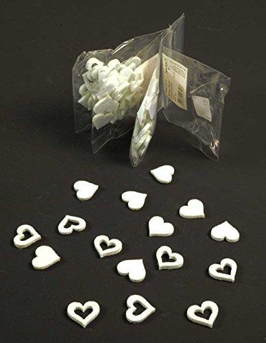 déco mariage coeurs Dispersés filzherzen blanc, 64 pièce Ø : 20mm, PUBLIQUE / fermés cœurs