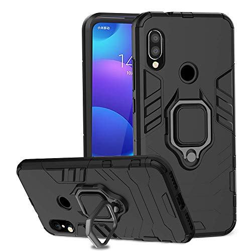 Ferilinso Cover voor Xiaomi Redmi 7 PRO / Xiaomi Mi Play, stijlvolle hoes Hybride robuuste holster voor bewapening Dual Rigid PC Duurzame hoes Dual Layer - Zwart